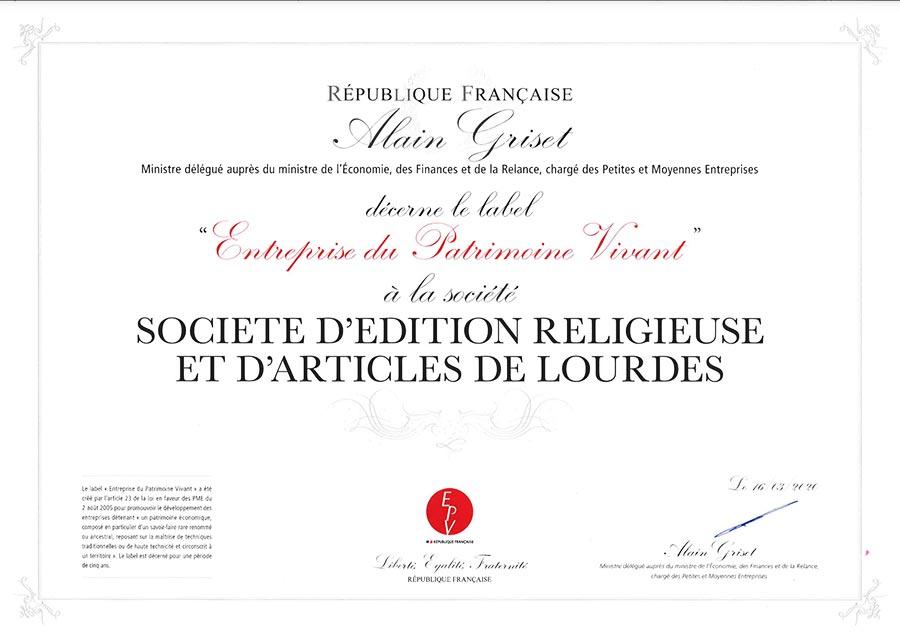 Diplôme EPV Seral Lourdes
